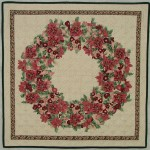 Soft Edge Piecing Poinsettia Wreath