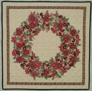 Soft Edge Piecing Poinsettia Wreath