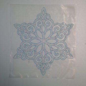 Applique Snowflake cut out