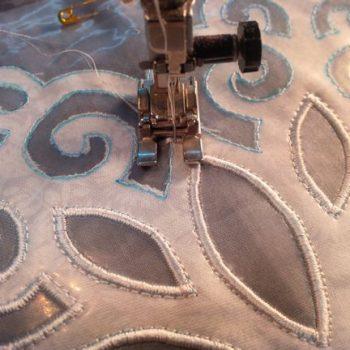 Satin Stitch Applique Snowflake 2