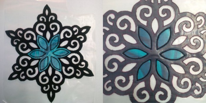 Stained Glass Snowflake 1