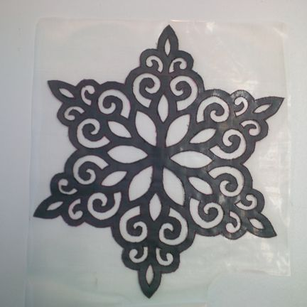 Stained Glass Snowflake cut out
