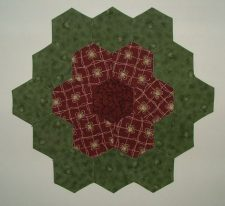 Grandmother's Flower Garden Hexies, by Machine