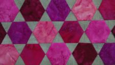 Appliqué Hexies with Setting Triangles